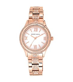 Anne Klein® Rose Goldtone Dress Bracelet Watch