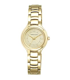 Anne Klein® Goldtone Bracelet Watch with Numeral Dial