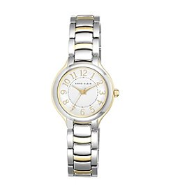 Anne Klein® Two-Tone Bracelet Watch with Numeral Dial
