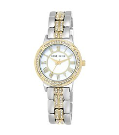 Anne Klein® Two-Tone Crystal Bracelet Watch