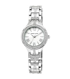 Anne Klein® Silvertone Crystal Dress Watch