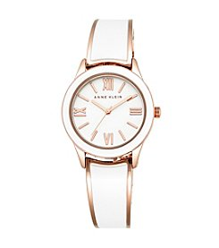 Anne Klein® Rose Goldtone Enamel Bangle Watch
