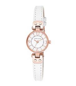 Anne Klein® Rose Goldtone Mini Leather Strap Watch