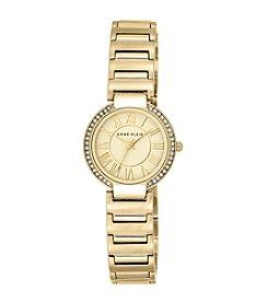 Anne Klein® Polished Goldtone Bracelet Watch