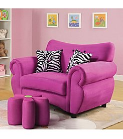 Acme Lucy Pink Youth Sofa Chair