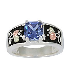 Black Hills Gold Ladies' Sterling Silver Indigo Cubic Zirconia Ring