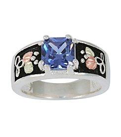 Black Hills Gold Ladies' Sterling Silver Indigo Cubic Zirconia Ring