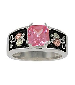 Black Hills Gold Ladies' Sterling Silver Pink Cubic Zirconia Ring