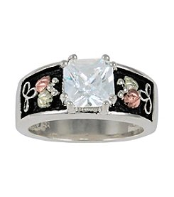 Black Hills Gold Ladies' Sterling Silver White Cubic Zirconia Ring