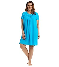 Miss Elaine® Plus Size Short Nightgown