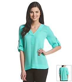 Chaus Roll Sleeve Blouse