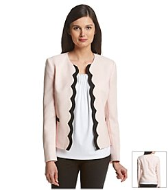 Tahari ASL® Open Front Scalloped Jacket