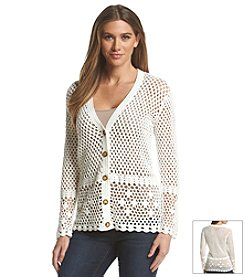 MICHAEL Michael Kors® Crochet V-Neck Cardigan