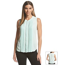 Calvin Klein Button-front Pleated Top