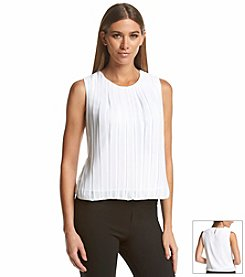 Calvin Klein Chiffon Pleat Top