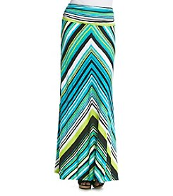 Joan Vass® Printed Maxi Skirt