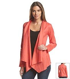 Joan Vass® Drapeneck Jacket