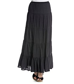 Joan Vass® Tiered Maxi Skirt