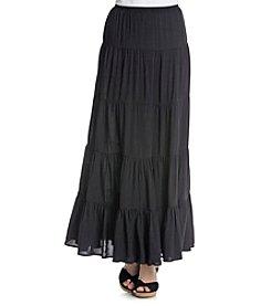 Joan Vass® Tiered Maxi Skirt