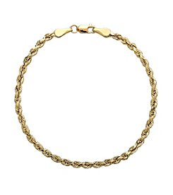 Rope Bacelet in 14K Yellow Gold