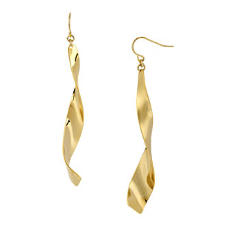Robert Lee Morris Soho™ Linear Twist Goldtone Earrings