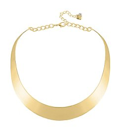 Robert Lee Morris Soho™ Half Moon Goldtone Collar Necklace