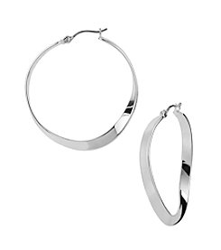 Robert Lee Morris Soho™ Sculptural Hoop Silvertone Earrings
