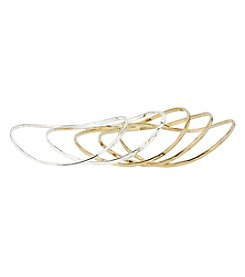 Robert Lee Morris Soho™ Two Tone Bangle Bracelet Set