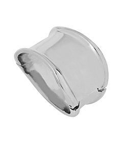 Robert Lee Morris Soho™ Wide Sculptural Hinged Silvertone Bangle Bracelet