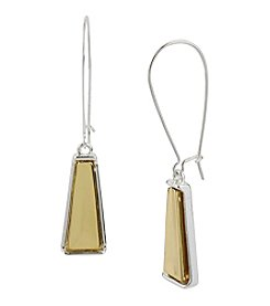 Robert Lee Morris Soho® Geometric Long Drop Two Tone Earrings