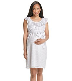 Three Seasons Maternity™ Ruffle Eyelet Sundress