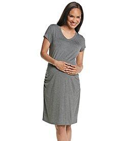 Three Seasons Maternity™ Short Sleeve V-neck Knit Dress