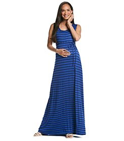 Three Seasons Maternity™ Sleeveless Stripe Knit Maxi Dress