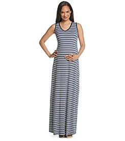 Three Seasons Maternity™ V-neck Stripe Knit Maxi Tank Dress