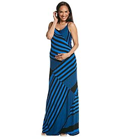 Three Seasons Maternity™ Multi Stripe Cami Knit Maxi Dress