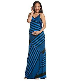 Three Seasons Maternity™ Multi Stripe Cami Knit Maxi Dress