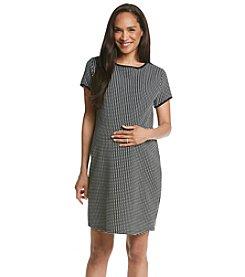 Three Seasons Maternity™ Short Sleeve Jacquard Knit Dress