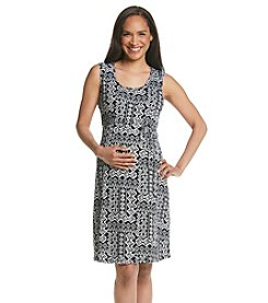 Three Seasons Maternity™ Sleeveless Print Knit Dress