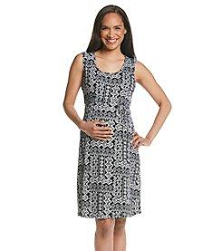 Three Seasons Maternity™ Sleeveless Print Knit Dress