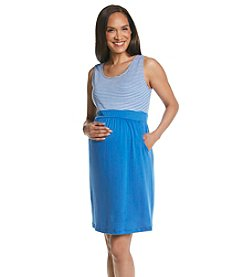Three Seasons Maternity™ Sleeveless Stripe Knit Dress