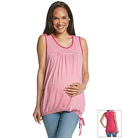 Three Seasons Maternity™ Sleeveless Stripe Tie Bottom Tank