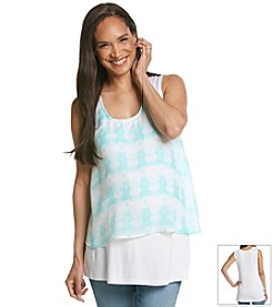 Three Seasons Maternity™ Layered Print Tank