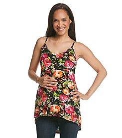 Three Seasons Maternity™ Floral Knit High-Low Hem Tank