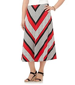 Chaps® Plus Size Chevron Cotton Maxi Skirt
