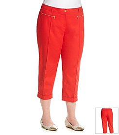Jones New York Signature® Plus Size Crop Double Weave Pant