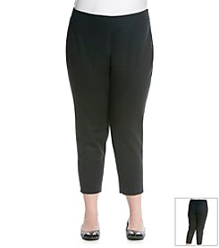 Jones New York Signature® Plus Size Double Weave Ankle Pant