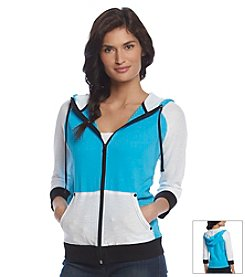 Jones New York Sport® Petites' Mesh Sleeve Zip Up