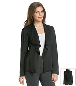 Jones New York Signature® Petites' Drape Front Jacket