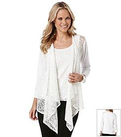 Rafaella® Lace Front Cardigan