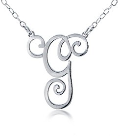 Designs by FMC Sterling Silver Initial